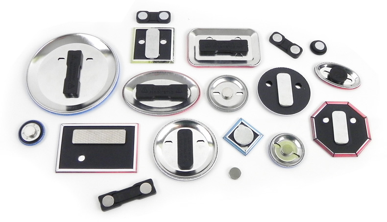 magnets, magnet badges, clothing magnets, fasteners
